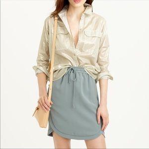 J CREW Women's Camp Shirt Size 10 in Whisper Lame